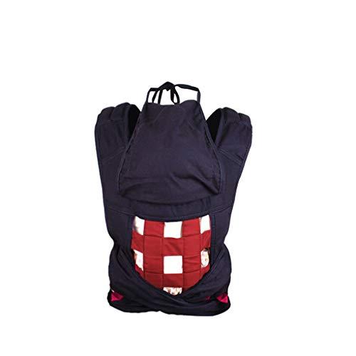 Mochilas portabebé Sling Back para bebé Tipo multifunción Four Seasons Sencillo Tradicional para bebé Sling Toalla Luz Durable Mochilas portabebé (Color : Red)
