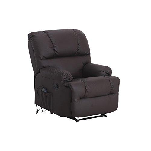 JRD Relax Chaise de Massage avec la Chaleur Lombaire (Chocolat)