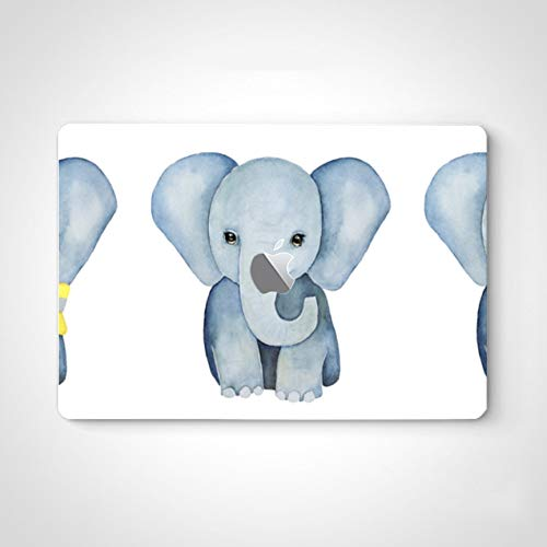Laptop Sticker Skin Blue Elephant Long Nose Decal Stickers for Women for MacBook Air 13' Pro 13'/15'/16' 2008-2020 Version Laptop Keyboard Decal Sticker
