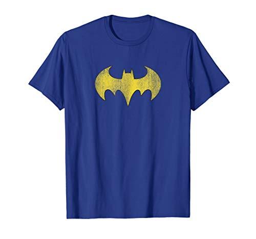 Batgirl Logo Distressed Yellow Symbol T-Shirt