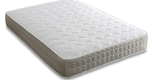 Memory Foam Pocket Sprung Mattress Orthopedic Mattress with Wavey Quilted Cover5FT - Kingsize