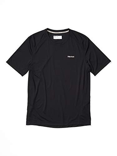 Marmot Windridge SS T-Shirt Manche Courte, Chemise de randonnée, idéal pour Le Sport, la Gym, séchage Rapide, Respirant Homme Black FR : S (Taille Fabricant : S)