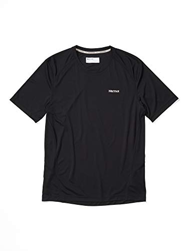 Marmot Windridge SS T-Shirt Manche Courte, Chemise de randonnée, idéal pour Le Sport, la Gym, séchage Rapide, Respirant Homme, Black, FR : S (Taille Fabricant : S)