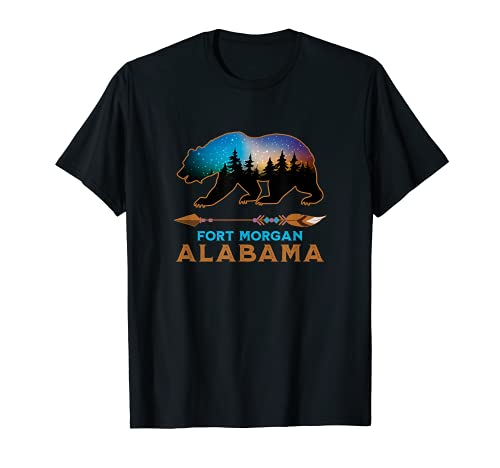 Fort Morgan Alabama US American Black Bear Vacation Souvenir Camiseta
