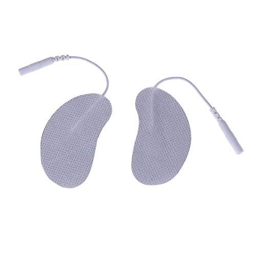 LWX 4 Type Visage Sein Pads électrode pour des dizaines électrique électrique Massager Fréquence numérique thérapie Machine Amincissants,1 Pair of crescents