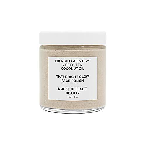 Model off Duty Beauty That Bright Glow Face Polish | Made w/Natural & Vegan Ingredients | Resurfacing Facial Exfoliator Gentle Face Scrub Cream | For Anti-Aging, Acne Scars, Dullness, Wrinkles, Pores