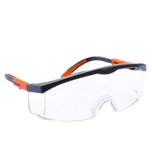 Brillenbril, anti-condens, stofbescherming, spatbescherming, niet-verblindend en veiligheidsbril Cadre Orange Vibrant Type Anti-buée