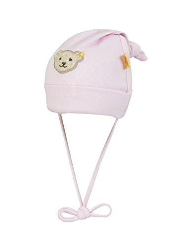 Steiff Unisex - Baby Mütze 0006670 Mütze Gr. 47 Cm Kopfumfang, Einfarbig, Gr. One Size (Herstellergröße: 47), Rosa (Barely Pink 2560)