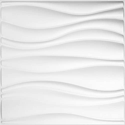 Pannello a parete 3D Waves   Rivestimento Murale WallArt   12 Pannelli 3D a Parete per la Decorazione della Parete   3 m² Parete 3D - Pannelli Decorativi Interni da Muro 3D   Rivestimento Pareti 3D