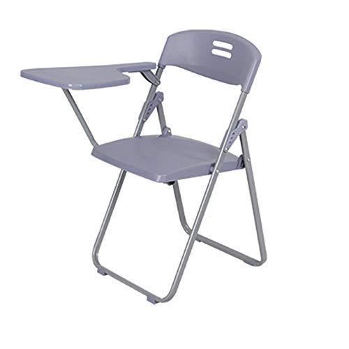 QuRRong schrijfbord stoel 42x46x80cm inklapbare metalen frame stoel met een tablet is ideaal voor horeca schrijfbord trainingsstoel