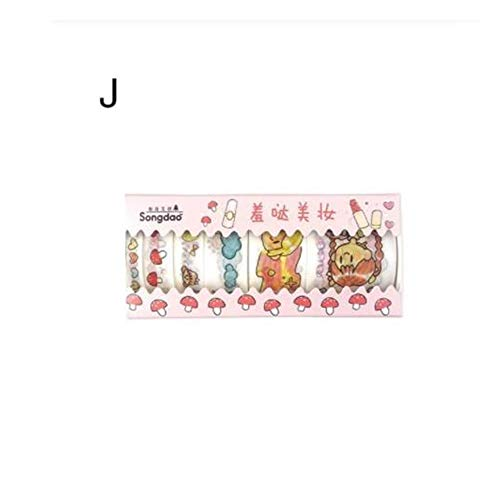 Aqiong Kaerma-banden met 6 rollen, Washi-Box, schattig, decoratief, set om zelf te maken, van papier, scrapbooking en Japanse kawaii-stickers voor kaarten