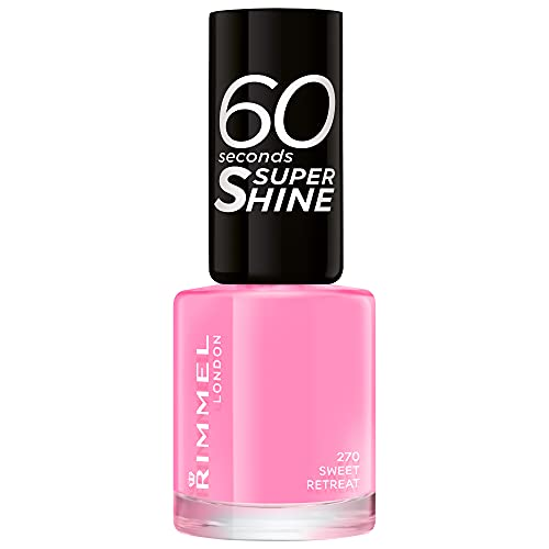 Rimmel London 60 Seconds Super Shine by Rita Ora Nail Polish, 270 Sweet...