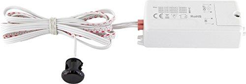 Mini Einbau IR Sensor Bewegungsmelder 230V 500W - LED geeignet - Mindestlast nur 1W bis max. 500W - ideal für ein Einbau in Möbel, Badschrank etc.