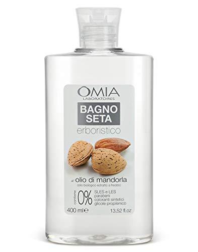 Omia Bagno Seta Erboristico Olio di Mandorla, Bagnoschiuma per Pelli Delicate, 400 ml