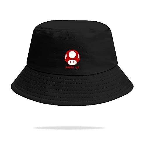 XINGAN Super Mario Hat Mario Super Mario juego que rodea pescador sombrero hombres y mujeres pote sombrero estudiante pareja viaje protector solar sombrero