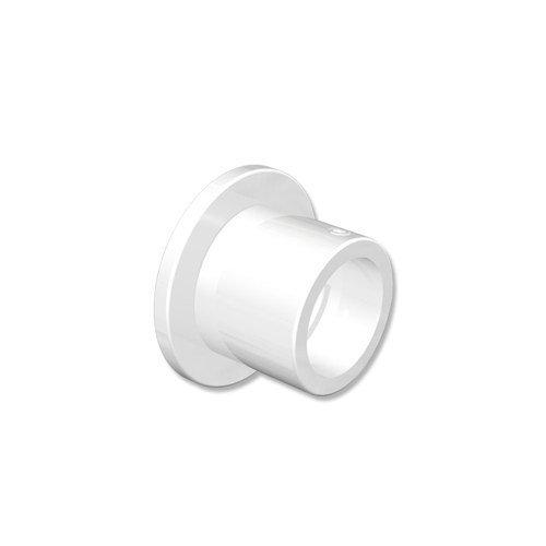 INTERDECO Gardinenstangen Wandlager/Seiten-Wandhalter/Nischen-Träger Weiß 20 mm Ø (2 Stück)