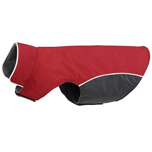 BONAWEN Winter Dog Coat Waterproof Thicken Puppy Jacket for Small,Medium Dog Chihuahua Yorkie Shih Tzu Basenji Pug French Bulldog(Red,S)