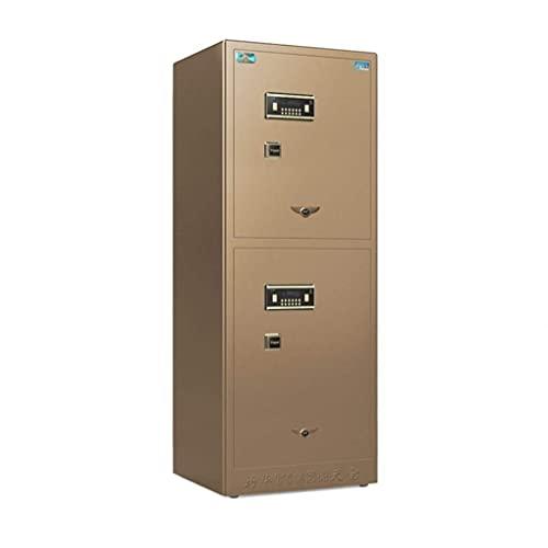 Cajas fuertes para gabinetes, cajas fuertes digitales para el hogar, alarma inteligente doble, todas de acero, antirrobo, oficinas, hoteles, huellas dactilares, contraseñas, cajas fuertes en la pared,