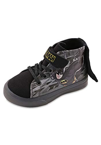 Favorite Characters Batman Boys Lighted Hi Top Sneakers Toddler/Little Kid Black (10 M US Toddler)