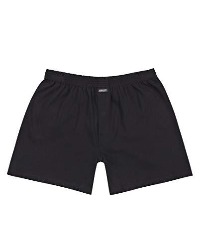 Ammann Basic Cotton Boxer-Shorts 6er Pack Black 6