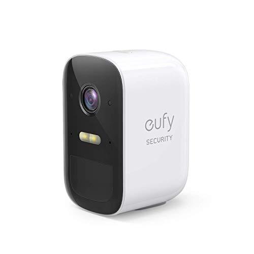 eufy Security eufyCam 2C Caméra de sécurité sans Fil - 1 caméra avec autonomie de 180 Jours, vidéo HD 1080p, étanchéité IP67, Vision Nocturne, sans Charges Sensuelles (Stockage Local)