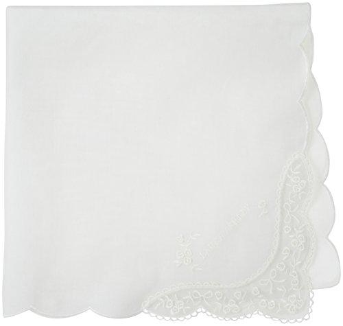 [ローラ アシュレイ] ハンカチ レディース 刺繍ハンカチ 5608002B クリーム 日本 46cm×46cm (FREE サイズ)