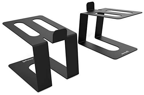 AUDIBAX | Neo STM-40 - Soportes de Mesa para Monitor Estudio y Altavoz (Pareja) - Soporte Monitor Mesa - Diseño Perfecto - Resistentes y Seguros - No Requieren Montaje - 13 cm (ancho) x 12 cm (alto)