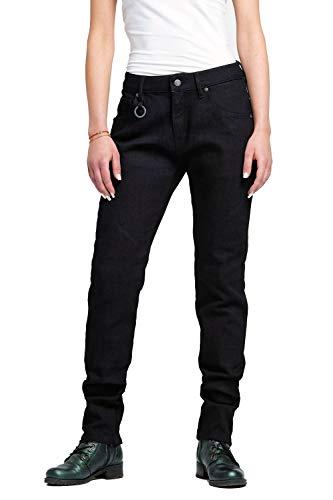 Pando Moto Stele Black WM Women's Motorcycle Jeans CE Approved Single Layer Dyneema Slim Fit Motorbike Trousers Ladies