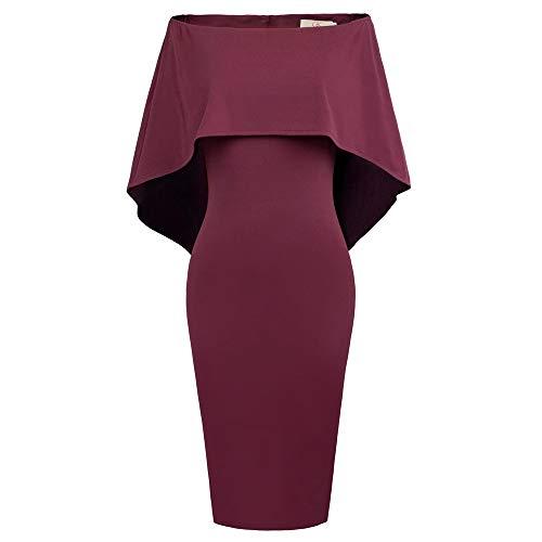 GRACE KARIN Vestido Tubo Vestido Mini Vestido Elegante de Ceremonia Vestido Estilo Vaquera Hombro Elegante M CLAF39-2