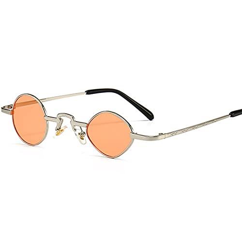 AMFG Gafas De Sol De Borde Estrecho Asimétrico Retro For Hombres Y Mujeres Con El Mismo Estilo De Gafas De Sol De Estilo Callejero (Color : E)