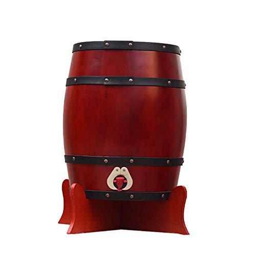 Barril De Vino De Madera Barril de vino de madera de roble, Dispensador de barril de vino de madera especial Cubo de almacenamiento de 25 L Barriles de cerveza, para barril de envejecimiento de whisk