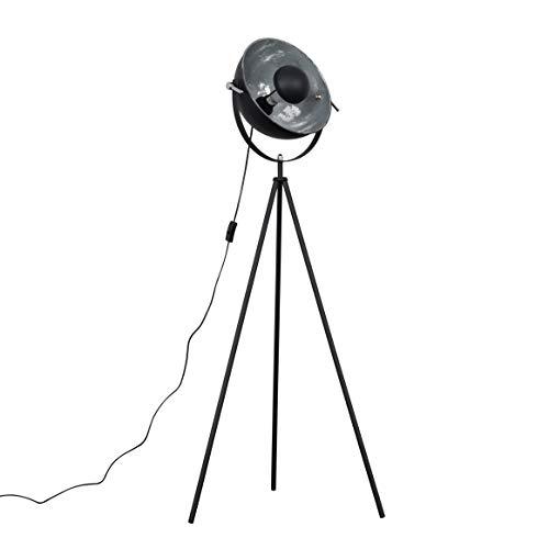 Lámpara de pie estilo retro de fotografía en un acabado de metal negro