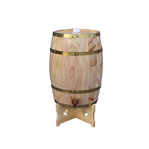 HANYU Catador Barril de Roble 25L, Dispensador de Vino de Barril de Madera para Almacenar Bebidas Espirituosas de Tequila de Whisky (Color : Natural, Size : 25L)