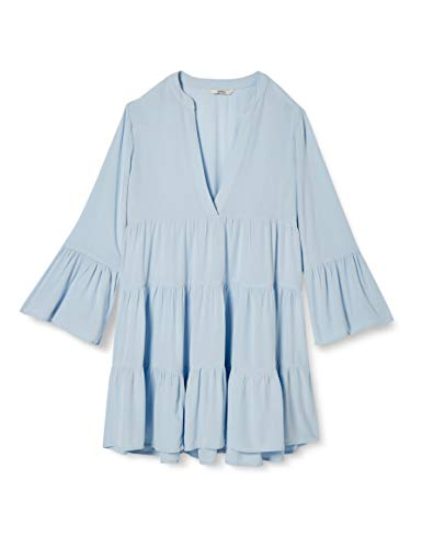 ONLY Damen ONLNANCY 3/4 Athena Dress WVN Kleid, Cashmere Blue, 42