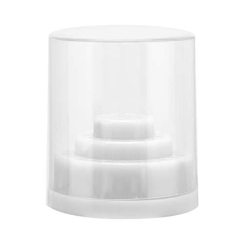 48 scanalature Porta punte per trapano per unghie Manicure Organizer Strumento Espositore Porta punte per trapano per unghie Contenitore per punte per trapano per unghie Contenitore(bianca)
