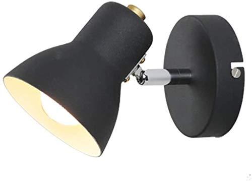 Modern Mini leesvoer Wandlamp Rotation Iron Art wandlamp, for de woonkamer Corridors Slaapkamer Gallery Wandlamp Decoratie, Wit, Kleur: Zwart (Color : Black)