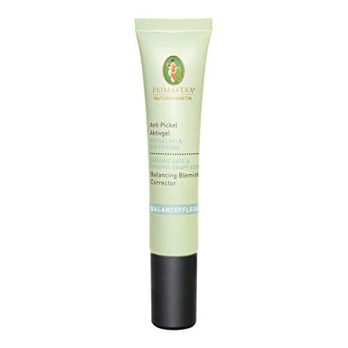PRIMAVERA Balancepflege Anti Pickel Aktivgel Salbei Traube 10 ml - Naturkosmetik - gegen Mitesser und Unreinheiten bei öliger Haut und Mischhaut - vegan