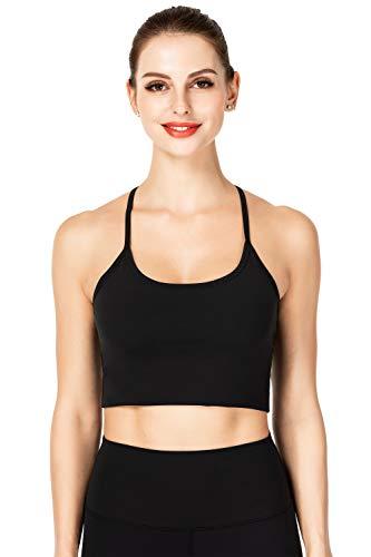 Sunzel Sports Bra for Women Tank Tops for Yoga Fitness Workout Running Black