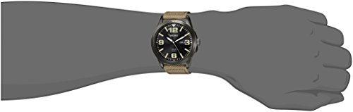 Seiko Watches SNE331 Montre Bracelet Homme Nylon Beige