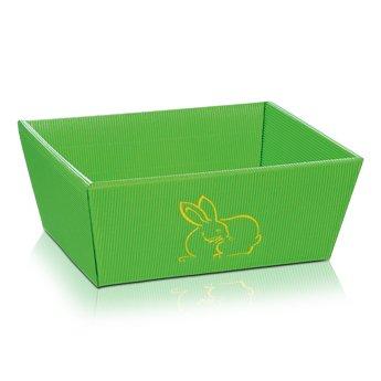 5 cestini pasquali a forma di coniglio, verde, cestino regalo, misura piccola