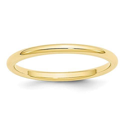 Diamond2Deal Mujer Hombre Unisex 417 Gold Oro amarillo de 10 quilates