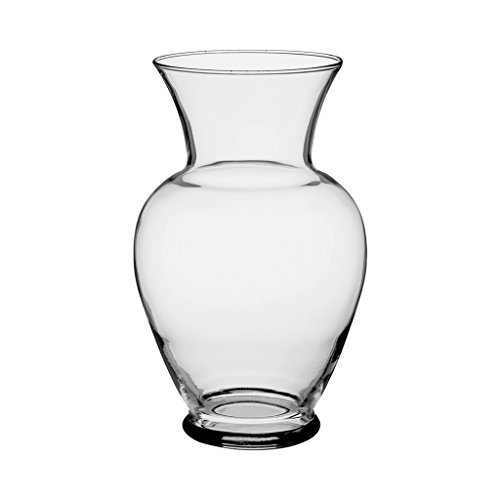 "Floral Supply Online 10 5/8"" Clear Spring Garden Vase - Decorative Glass Flower Vase for Floral Arrangements, Weddings, Home Decor or Office."