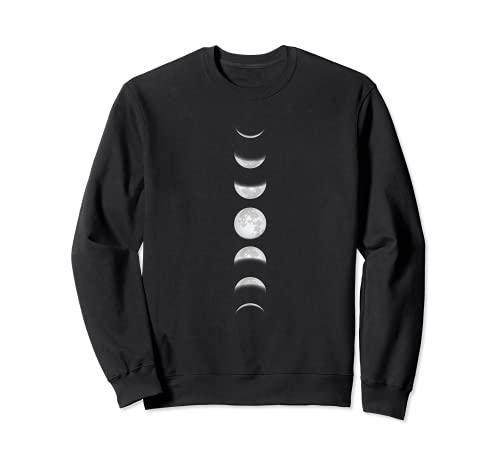 Moon Phases Lunar Gothic Goth Witchy Wicca Grunge Witchcraft Sweatshirt