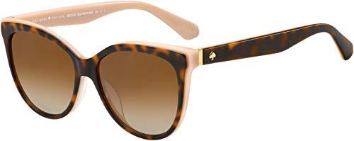 Daesha/S 00T4/LA 56 MM Havana Pink/Brown Gradient Polarized Cat Eye Sunglasses for Women + FREE Complimentary Eyewear Kit