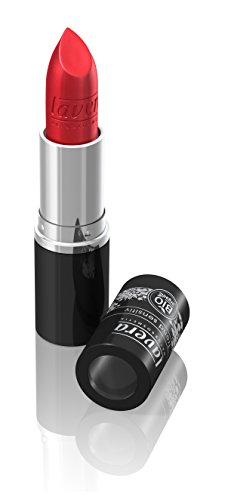 lavera Lippenstift Beautiful Lips Colour Intense ∙ Farbe Red Secret rot ∙ zart & cremig ∙ Natural & innovative Make up ✔ Bio Pflanzenwirkstoffe ∙ Lipstick ∙ Naturkosmetik 1er Pack (1 x 5 g)