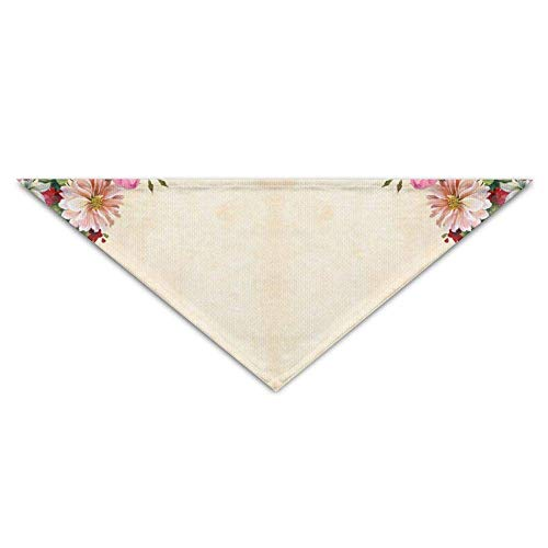 Roses Leaf Decoration Turban Triangle Scarf Bib Scarf Accessories Pet Cat And Baby Puppy Saliva Dog Towel