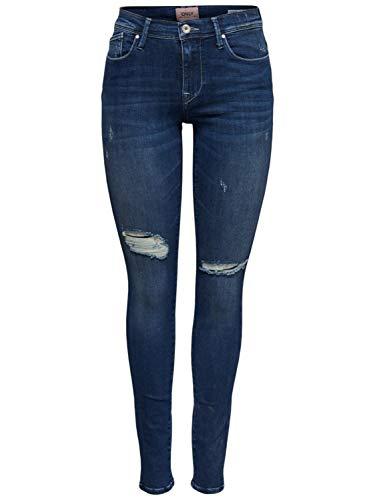 ONLY Damen Jeans onlSHAPE REG SK DNM Jeans REA1408 Blue Denim 30
