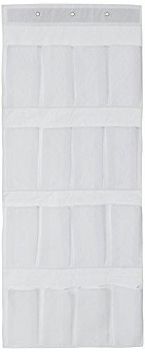 H & L Russel 16 Poche Porte Organiseur de Rangement, Blanc, 45 x 112 cm