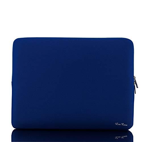 Bolsa de manga macia com zíper para substituição de bolsa para laptop portátil MacBook Air Pro Retina Ultrabook de 13 polegadas, azul escuro