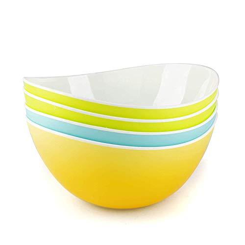 Ensaladera plastico Bol palomitas tazones desayuno cuencos para sopa cuencos aperitivos vasos de postre - 4 piezas